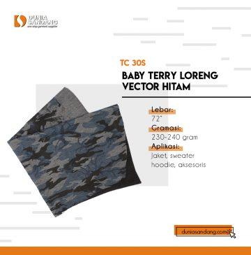 babbyterry loreng vector hitam
