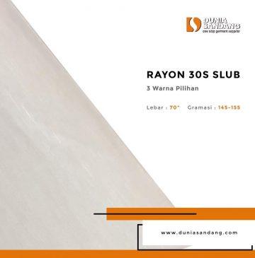 rayon 30s slub